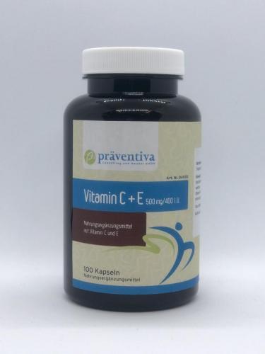 Vitamin C + E  500mg / 400 IU (100)